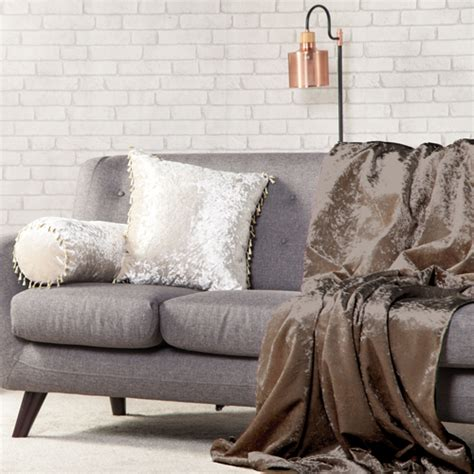 crushed velvet soft throw  sofa protector bed spread
