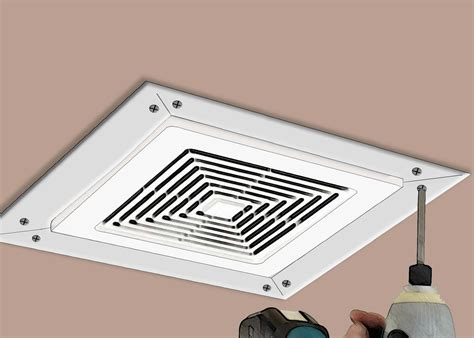installing bathroom vent how to install a bathroom fan with pictures wikihow