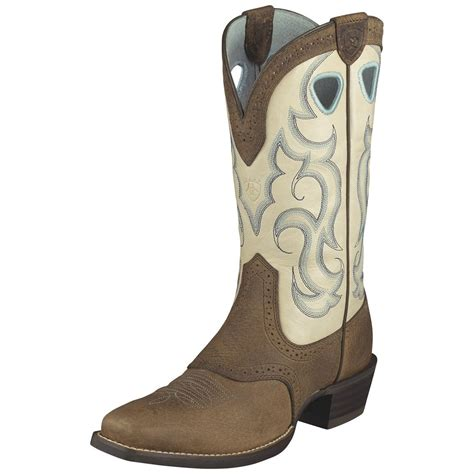 s ariat 174 11 quot rawhide square toe western boots earth