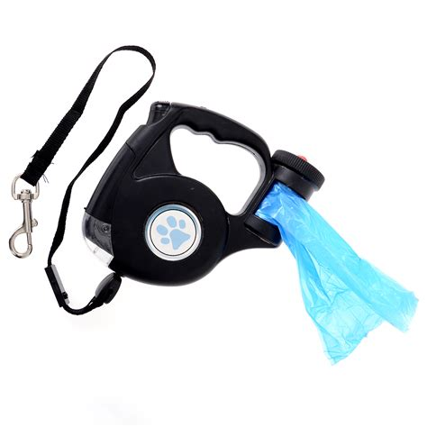 leash with light pet retractable lead leash led light with bag up to 35kg ebay
