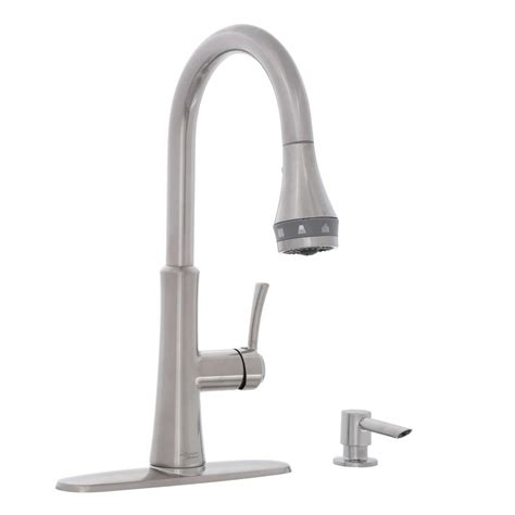 stainless steel kitchen faucet with pull down spray glacier bay 1200 series single handle pull down sprayer
