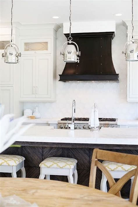 How To Install A Backsplash In A Kitchen White Arabesque Tile Backsplash Transitional Kitchen