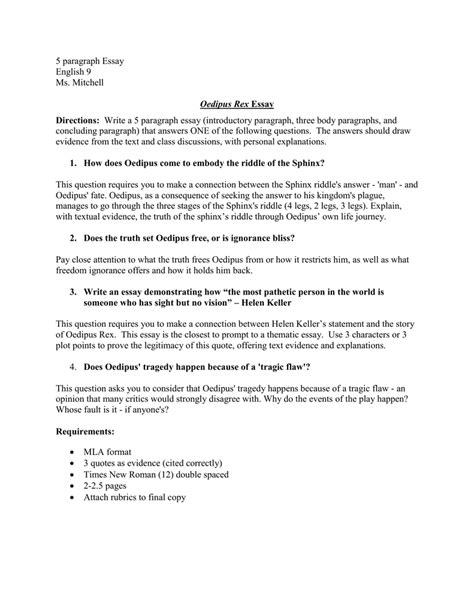 Oedipus Essay Questions by Oedipus Rex Essay Questions Answers Oedipus Rex Study Question Answers International
