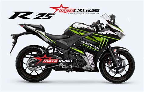 modif striping yamaha  monster energy motoblast