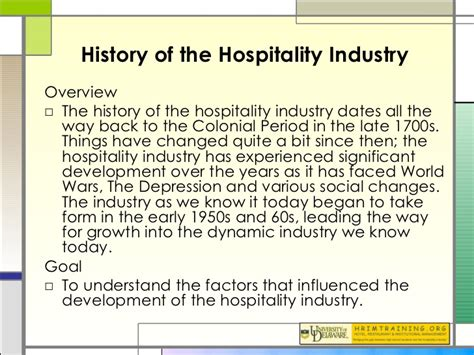 the historiography of the history of the hospitality industry