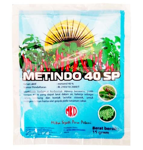 obat pertanian pembunuh serangga insektisida metindo 40 sp