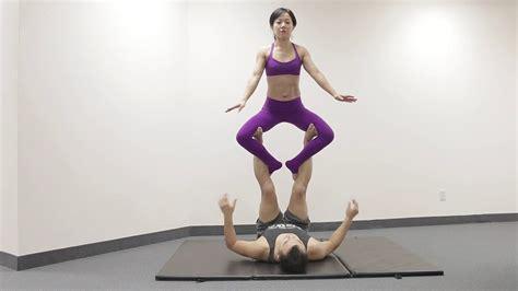 acro yoga tutorial beginner beginner acro yoga flow sequence 4 tutorial youtube