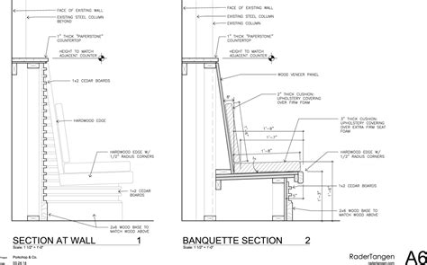 restaurant booth design guidelines dining nook dimensions porkchop co construction