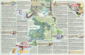 Map Of Crystal River Florida by The Souvenir Map Amp Guide Of Kings Bay Fl