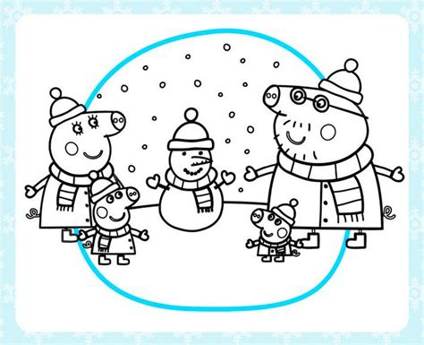 nick jr winter coloring pages peppa pig snow coloring page