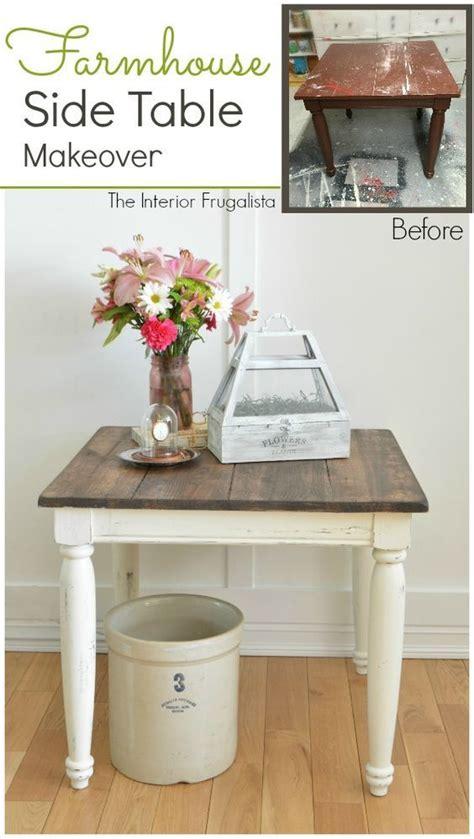 farmhouse side table makeover diy home decor ideas