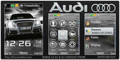 nokia c2 01 islamic themes audi car theme for nokia x2 c2 01 240 215 320 themereflex
