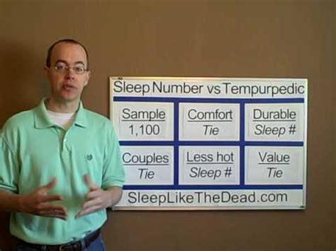 sleep number vs select comfort sleep number select comfort vs tempurpedic mattress bed
