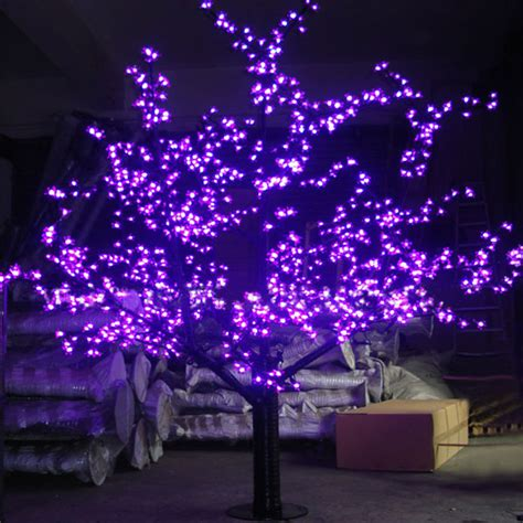 1 5meters 624leds purple blossom cherry tree christmas