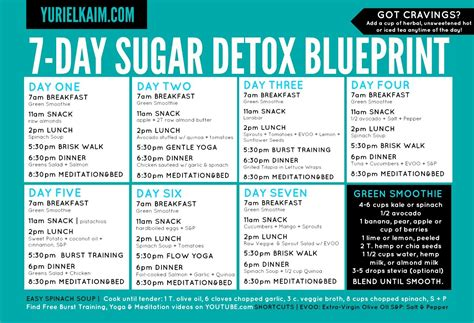 Easy 7 Day Detox by Sugar Detox Plan A 10 Step Blueprint For Quitting Sugar