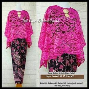 Set Kebaya Batik Setelan Kebaya Batik Rolinda Fanta setelan baju kebaya cape brukat dan rok lilit panjang