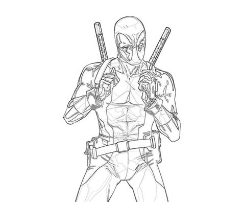 deadpool superhero coloring pages get this free deadpool coloring pages 492360