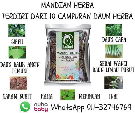khasiat   mandian herba buat ibu berpantang nuhababy
