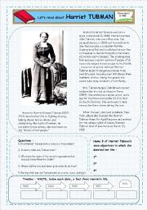 harriet tubman biography and questions harriet tubman worksheets worksheets releaseboard free