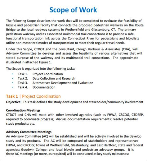 scope of work construction template scope of work 22 dowload free documents in pdf word excel