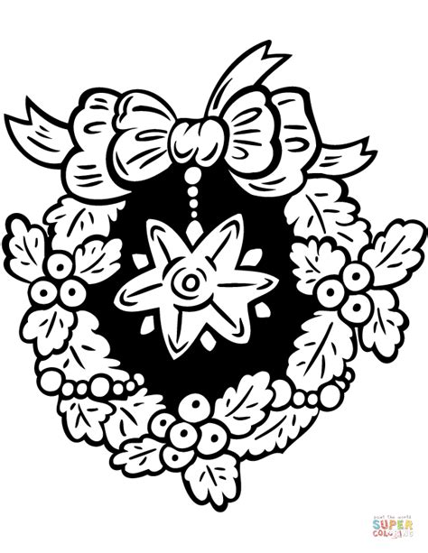 wreath coloring page wreath with coloring page free printable
