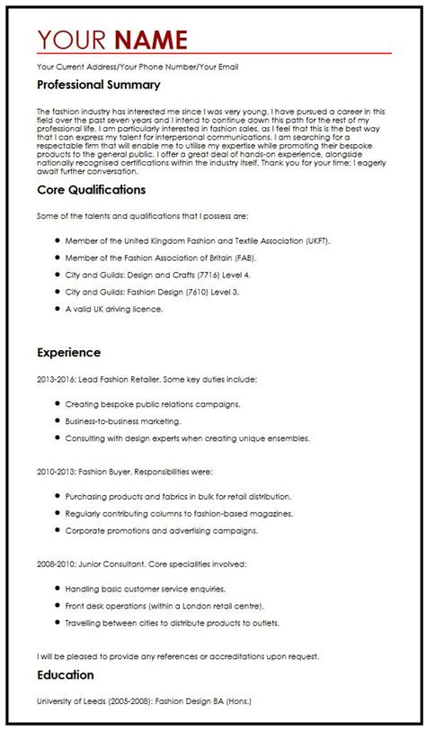 resume template the best cv 28 images excellent resume