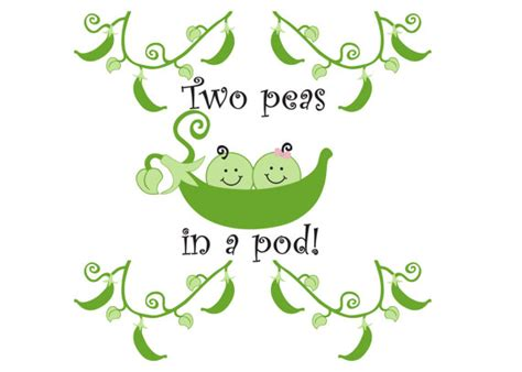 two peas in their pod items similar to two peas in a pod twins nursery vinyl