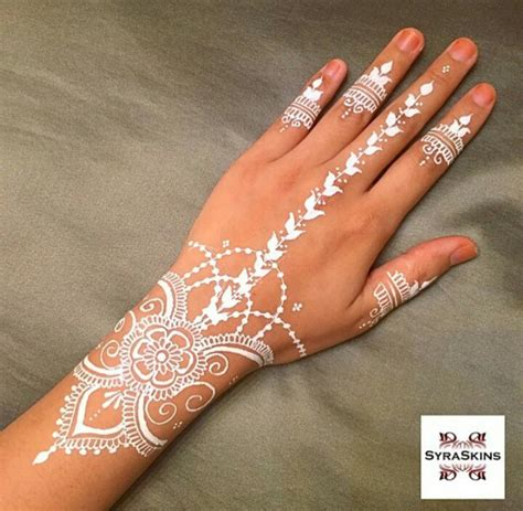 tattoo henna white white henna henna pinterest white henna hennas and