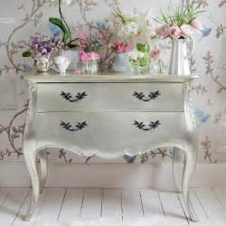 Silver Home Decor this silver dresser with embellished black draw handles is perfect for