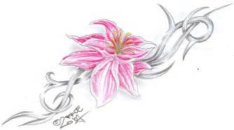 flower tribal c tattoo design by 2face tattoo on deviantart