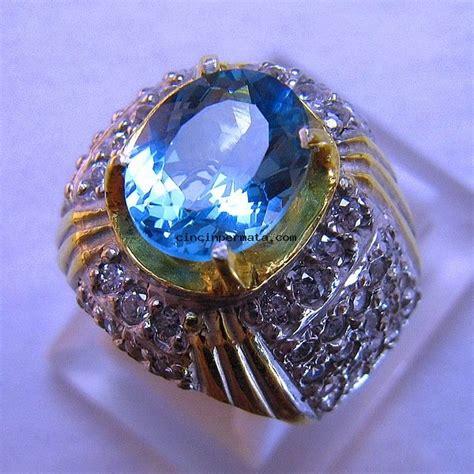 Batu Topaz batu mulia blue topaz cincinpermata jual batu