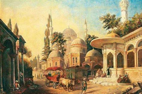 Ottoman Empire Istanbul Istanbul Ottoman Paintings Mediterranean And Naive
