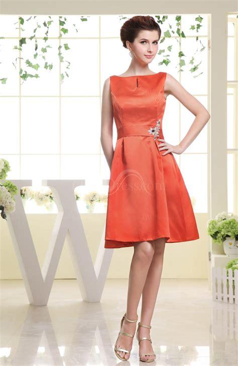 Plain Sabrina Blouse 1 persimmon plain sabrina sleeveless zipper knee length rhinestone bridesmaid dresses uwdress