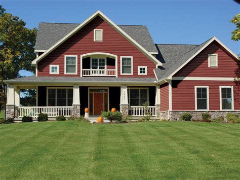 Red Kitchen Accessories Ideas by Trucedar Steel Siding Traditional Exterior Grand