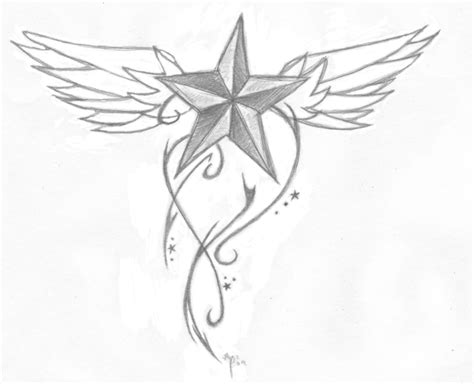 cool star tattoo designs nautical tattoos designs