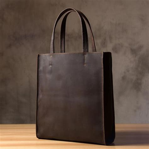 Handmade Shopping Bag - handmade leather tote bag shopping bag