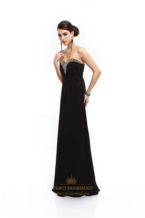 black beaded prom dress black sweetheart prom dress with beaded neckline and