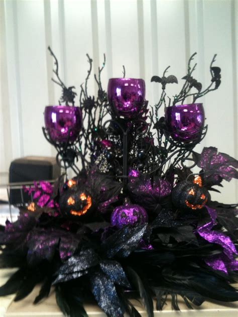 halloween tree purple lights simple and easy gothic halloween decorations