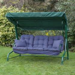 Cushions For Outdoor Swing Alfresia Luxury Garden Swing Seat Cushions 3 Seater Ebay