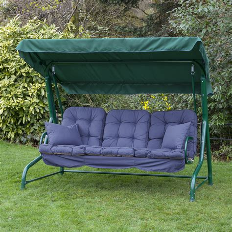 swing seat cushions alfresia luxury garden swing seat cushions 3 seater ebay