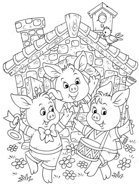 three pigs coloring pages three pigs coloring pages free printable three