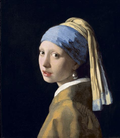 With A Pearl Earring Essay by Vermeer S In Blue Brings Mystery To L A Npr