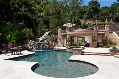 Backyard Pools Tv Show Tuscan Paradise Mediterranean Pool San Francisco