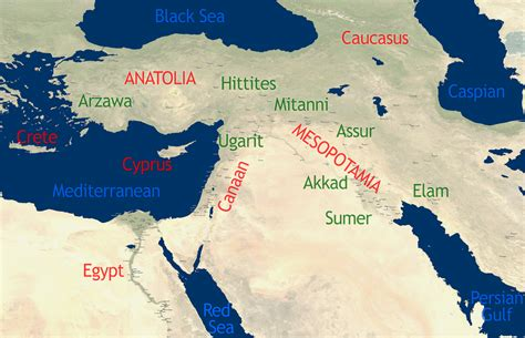 map of ancient near east ancient near east
