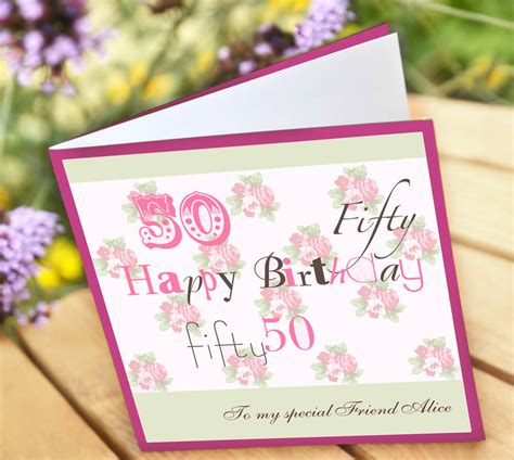 Personalised Birthday Cards Personalised 50th Birthday Card By Amanda Hancocks
