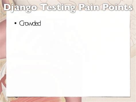 django creating test database slow django testing pain points
