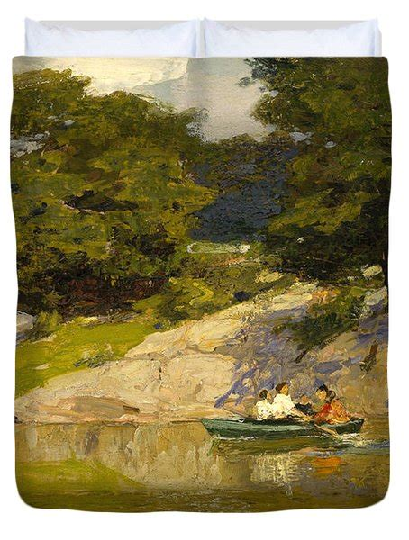 boating in central park painting boating in central park painting by edward henry potthast