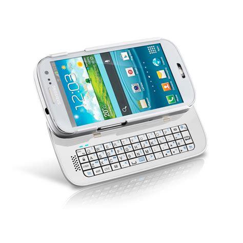 sliding bluetooth keyboard case  samsung galaxy  white