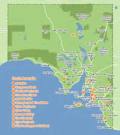 map south south australia region map map of australia region political