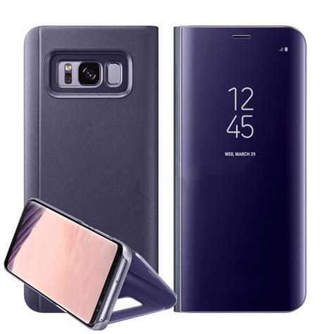 Flip Cover Samsung Galaxy Frame new samsung galaxy s8 plus note8 clear view mirror leather